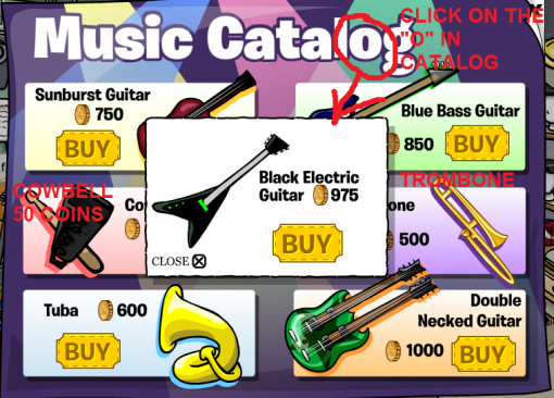 Catalog Cheats